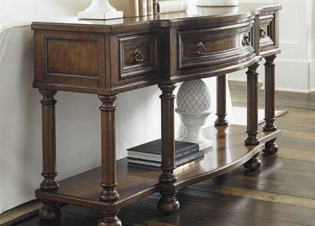Lexington Coventry Hills Rustic Cherry 66'' x 20'' James River Console Table