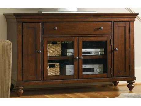 Luxe Designs Distressed Cherry 56''L x 21''W Rectangular Entertainment Console