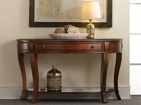 Luxe Designs Distressed Cherry 52''L x 18''W Demilune Console Table
