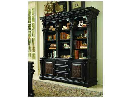 Luxe Designs Black with Reddish Brown Bookcase Hutch