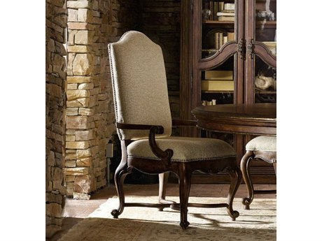 Luxe Designs Rich Dark with Gold tipping Dining Arm Chair