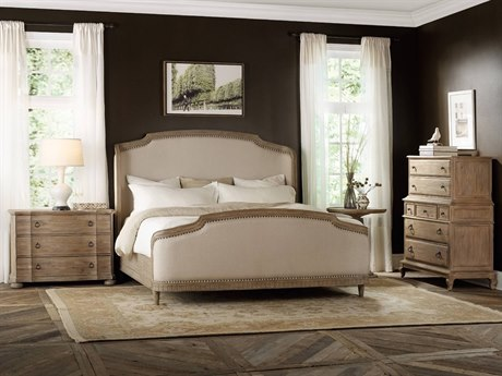 Luxe Designs King Size Shelter Panel Bed Bedroom Set
