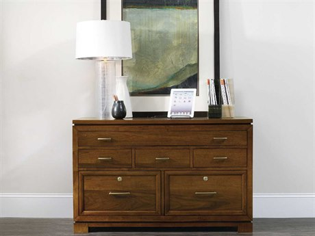 Luxe Designs Medium Wood Computer Credenza Cabinet