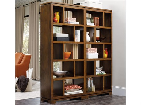 Luxe Designs Medium Wood Bookcase Room Divider