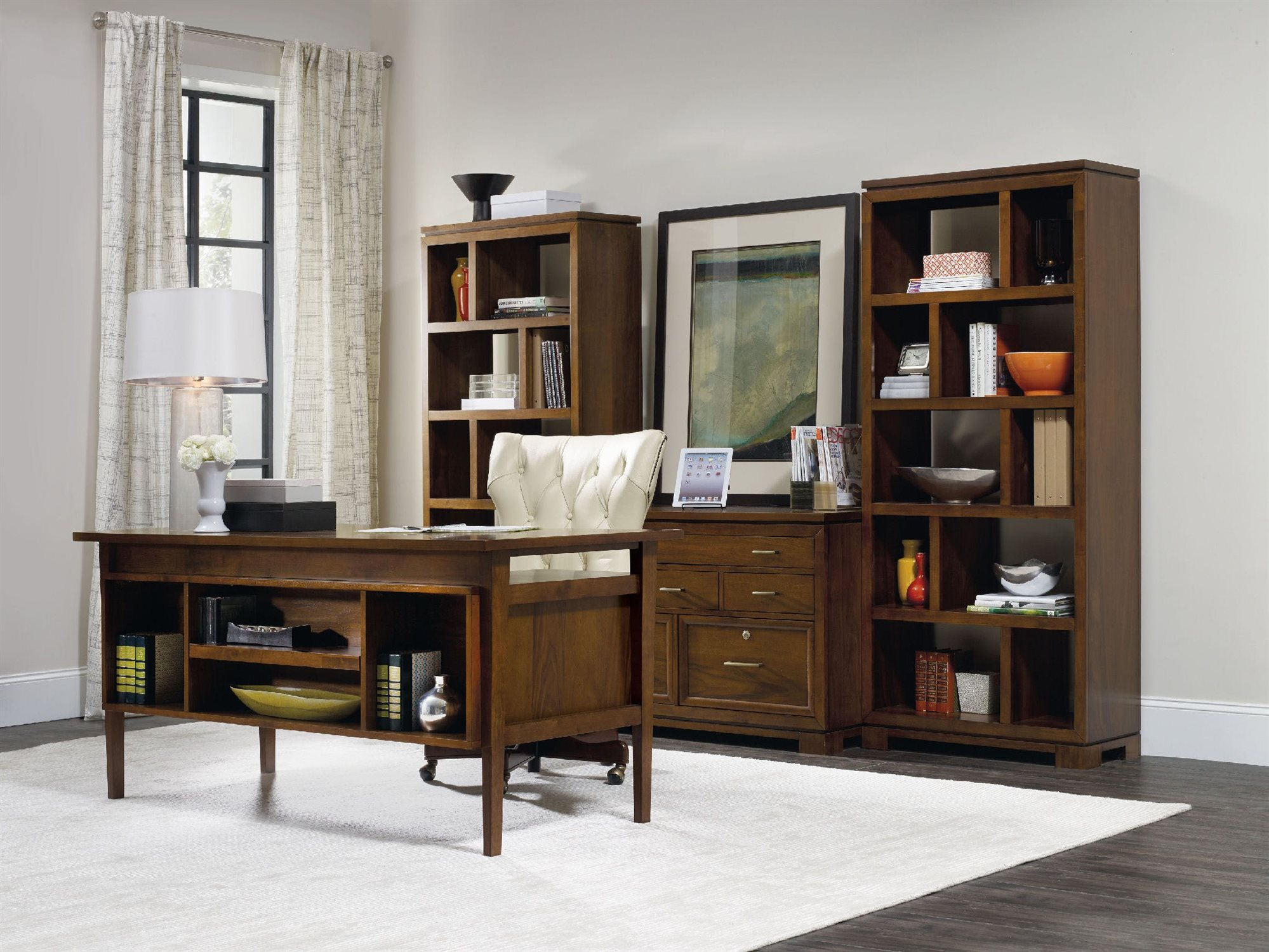luxe designs medium wood home office set lxd54291035441set. Black Bedroom Furniture Sets. Home Design Ideas