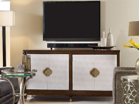 Luxe Designs Dark Cathedral Cherry 64.5''L x 20''W Rectangular Entertainment Console