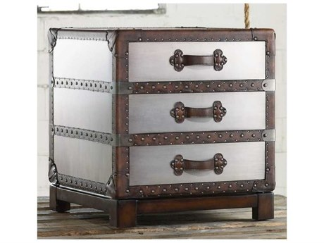 Luxe Designs Faux Zinc 22''W x 22''D Bongurant Accent Chest