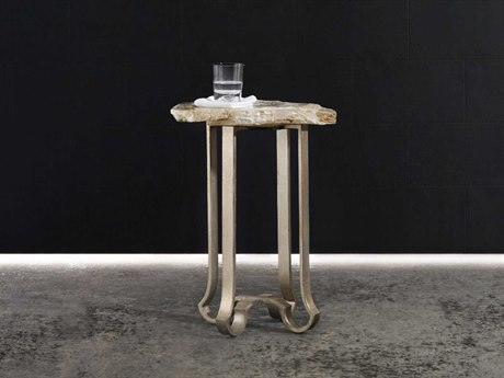 Luxe Designs Silver 19''L x 16''W Accent End Table
