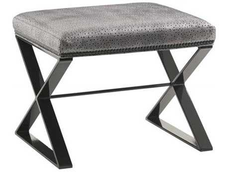 Lexington Carrera Carbon Gray Tight Top Lola Leather Accent Bench