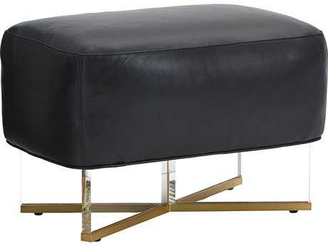 Lexington Take Five Bleeker Leather Ottoman