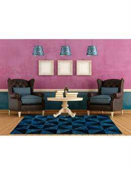 MA Trading Vintage 6'6'' x 9'6'' Rectangular Blue Turquoise Area Rug