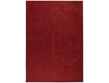 MA Trading The Basics Toledo Rectangular Red Area Rug