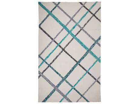 MA Trading Orange Lienzo Rectangular Ivory Turquoise Area Rug