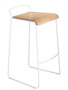 m.a.d. Furniture Design Transit Stacking Bleached Ash / White Counter Stool