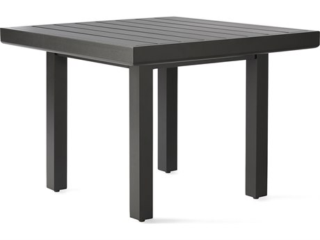 Mallin Trinidad 3000 Series Aluminum 29'' Wide Square Slatted Top End Table
