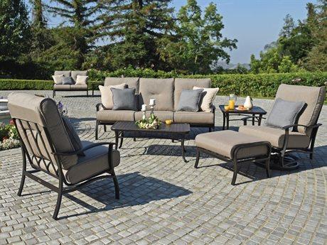 Mallin Albany Aluminum Cushion Lounge Set