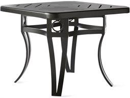 Mallin Salinas Tables F-top 27'' Wide Aluminum Square No Umbrella Hole End Table