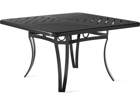 Mallin Salinas Tables F-top 42'' Wide Aluminum Square No Umbrella Hole Chat Table