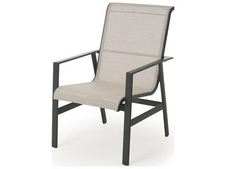 Mallin Dakoda Sling Aluminum Dining Arm Chair
