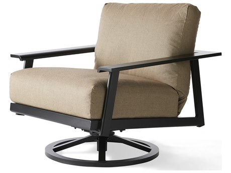Mallin Dakoda Cushion Aluminum Swivel Rocking Lounge Chair