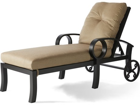 Mallin Eclipse Cast Aluminum Cushion Chaise Lounge