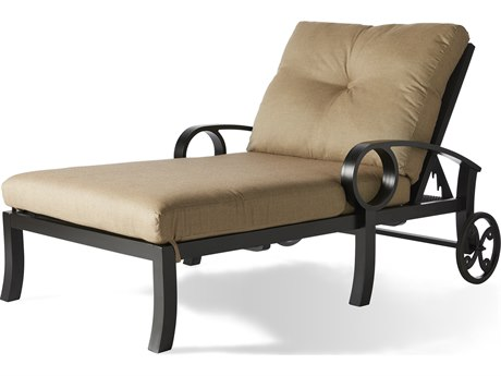Mallin Eclipse Aluminum Cushion Chaise Lounge