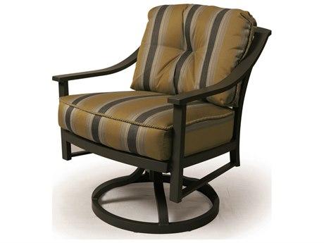 Mallin Ellington Aluminum Swivel Rocking Dining Arm Chair