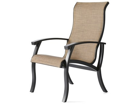 Mallin Georgetown Sling Aluminum Dining Arm Chair