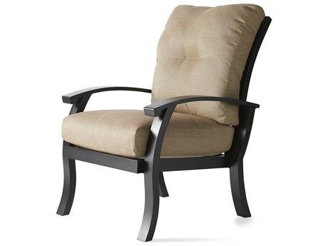 Mallin Georgetown Cushion Aluminum Dining Arm Chair