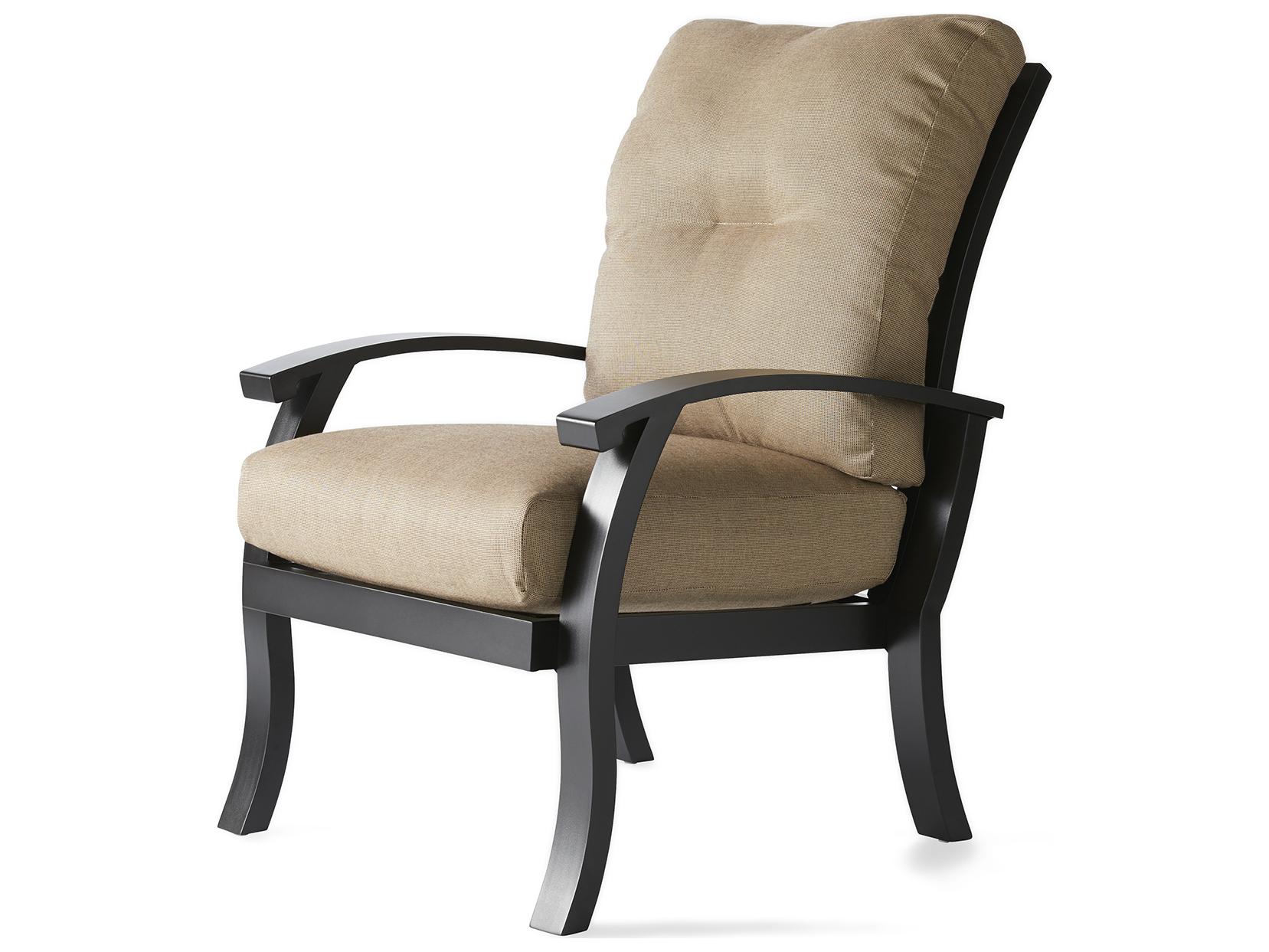 Mallin Georgetown Cushion Aluminum Dining Arm Chair Gt 410