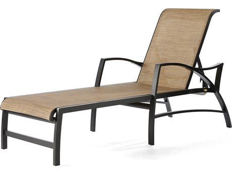 Mallin Heritage Sling Aluminum Adjustable Chaise Lounge