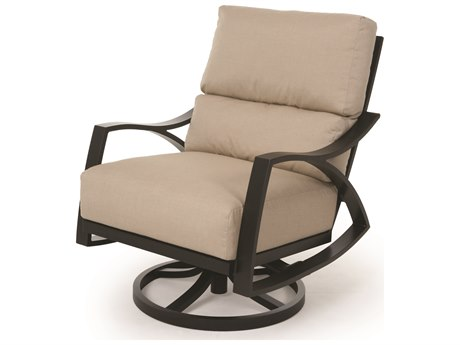 Mallin Heritage Cushion Aluminum Swivel Rocker Lounge Chair