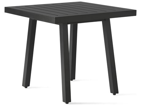 Mallin Kensington Aluminum 24'' Wide Square Slatted Top End Table PatioLiving