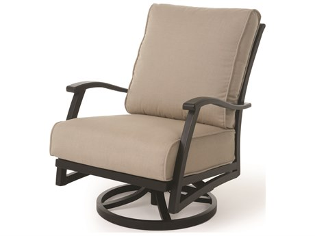 Mallin Lynwood Cushion Aluminum Swivel Rocker Lounge Chair