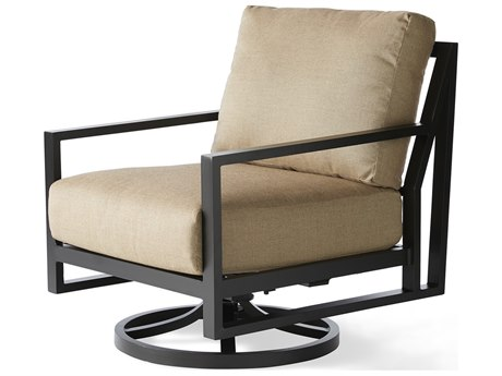 Mallin Madeira Cushion Aluminum Swivel Rocker Lounge Chair