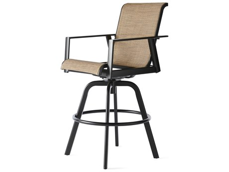 Mallin M Series Sling Aluminum Swivel Bar Stool MALMS002