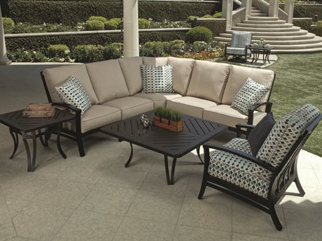 Mallin Oakland Cushion Aluminum Sectional Set