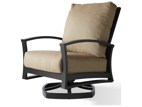 Mallin Oakland Aluminum Swivel Rocker Lounge Chair