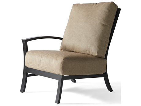 Mallin Oakland Aluminum Left Arm Lounge Chair