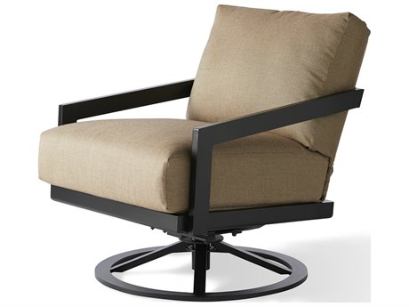 Mallin Oslo Cushion Aluminum Swivel Rocker Lounge Chair
