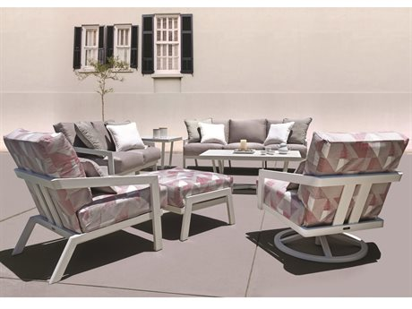 Mallin Oslo Cushion Aluminum Lounge Set
