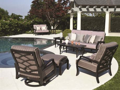 Mallin Palisades Cushion Aluminum Lounge Set