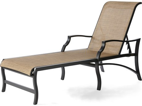 Mallin Palisades Sling Aluminum Adjustable Chaise Lounge