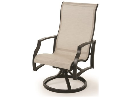 Mallin Palisades Sling Aluminum Swivel Rocker Dining Chair
