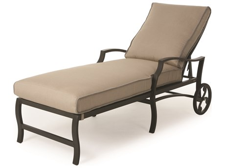 Mallin Palisades Cushion Aluminum Adjustable Chaise Lounge
