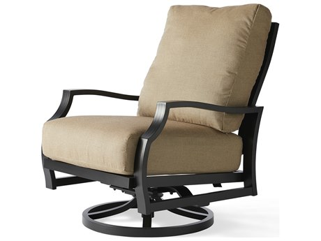 Mallin Palisades Cushion Aluminum Swivel Rocker Lounge Chair