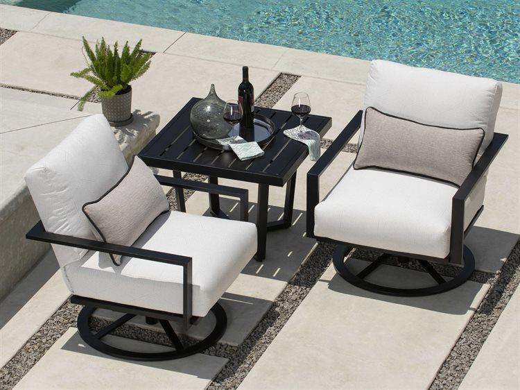 Mallin Quincy Aluminum Cushion Lounge Set PatioLiving