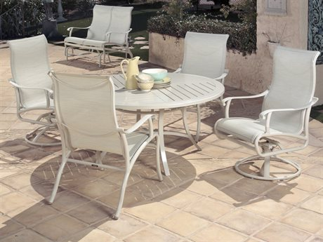 Mallin Scarsdale Sling Aluminum Dining Set
