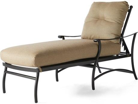 Mallin Seville Cushion Cast Aluminum Adjustable Chaise Lounge