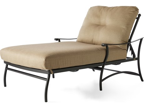 Mallin Seville Cushion Cast Aluminum Chaise Lounge and a Half